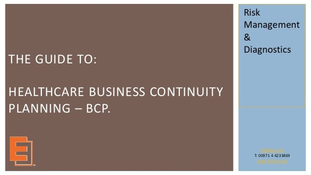 hospital business continuity plan