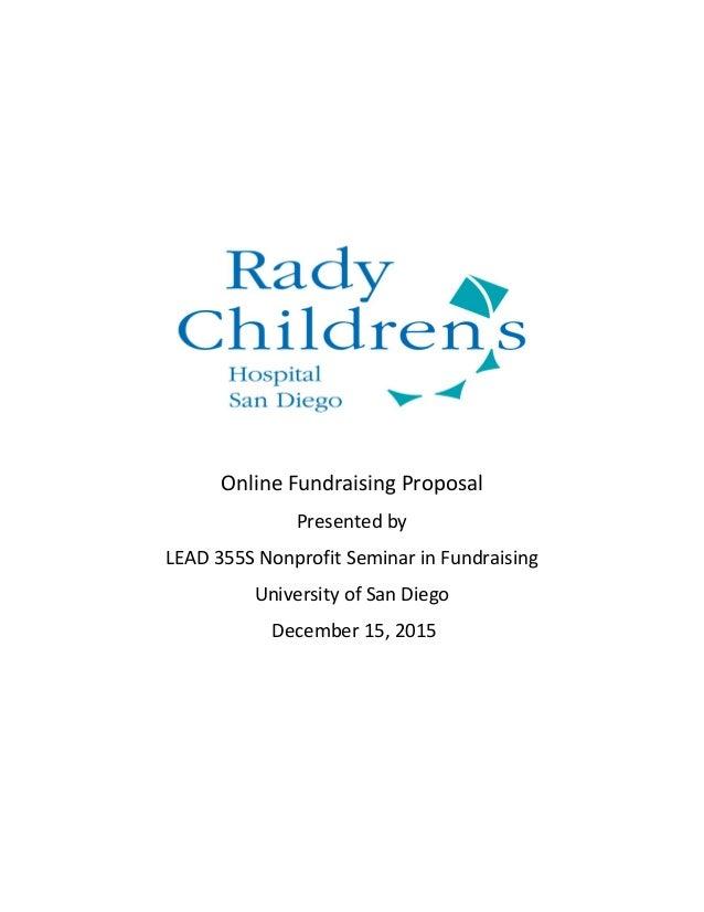 rady children s hospital fundraising proposal