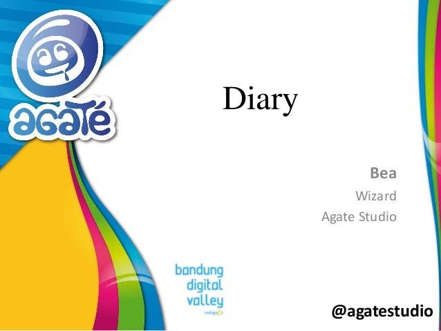 @agatestudio Diary Bea Wizard Agate Studio