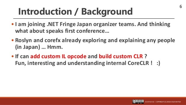 6 Introduction / Background • I am joining .NET Fringe Japan organizer teams. And thinking what about speaks first confere...