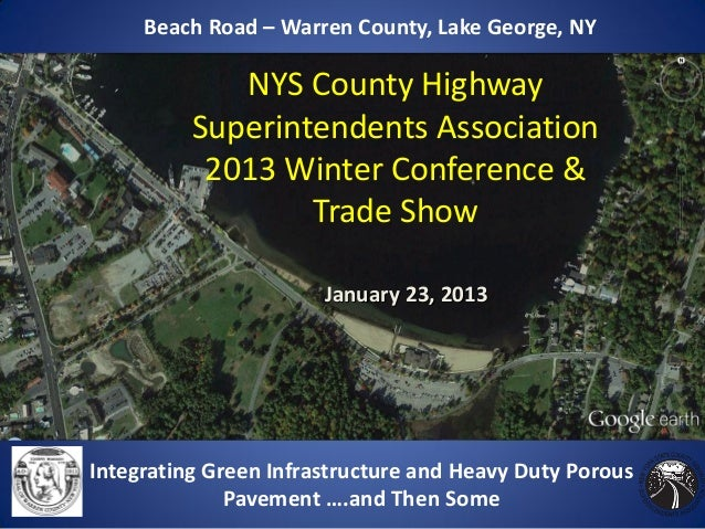 Beach Road – Warren County, Lake George, NY             NYS County Highway          Superintendents Association           ...