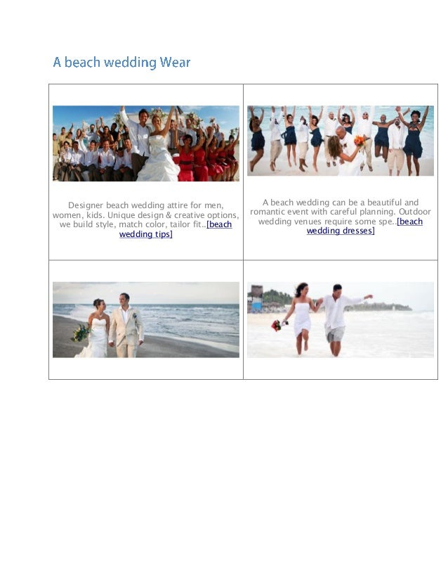 Beach Wedding Attire And Dresses For Men And Women By Wedding Tropics