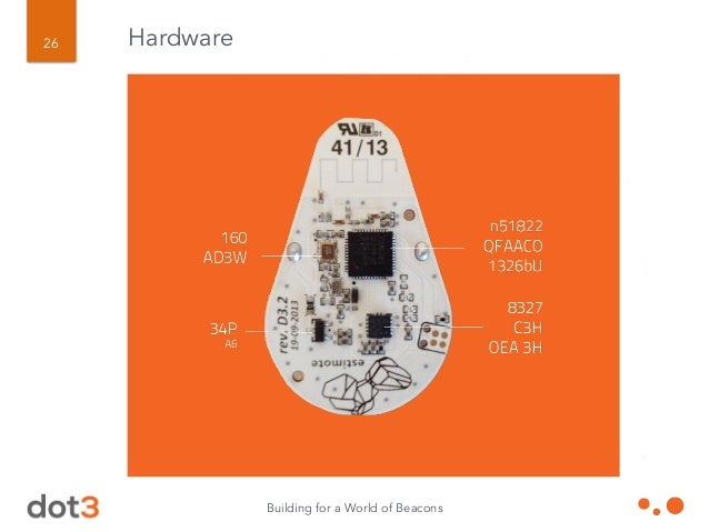 Building for a World of Beacons 27 Hardware 02 # Number of bytes that follow in first AD structure  01 # Flags AD type  1...