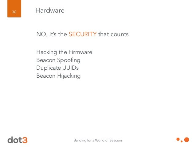Bonus Slide 2: Bold Prediction The security layer will be the prime driver of hub/node deployments in the months to come.
