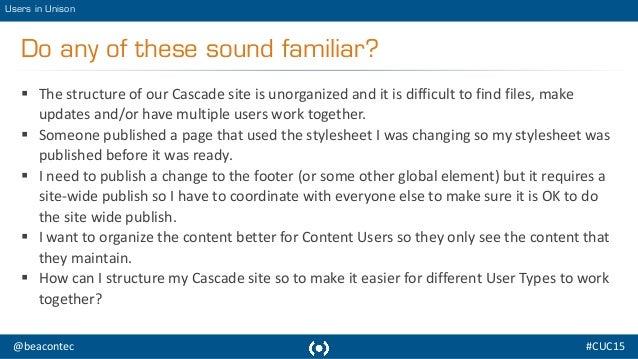 USERS IN UNISON: Optimize Cascade Server Setup for Global