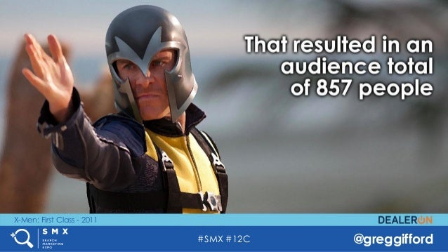 #SMX #12C @greggifford X-Men: First Class - 2011