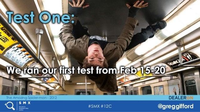 #SMX #12C @greggifford The Amazing Spider-man - 2012