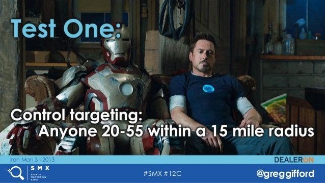 #SMX #12C @greggifford Iron Man 3 - 2013