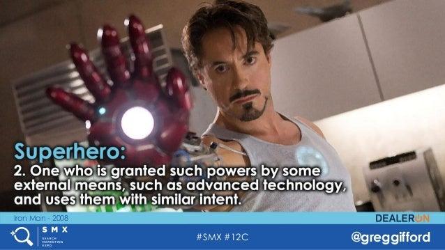 #SMX #12C @greggifford Iron Man - 2008