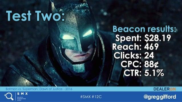 #SMX #12C @greggifford Batman vs. Superman: Dawn of Justice - 2016