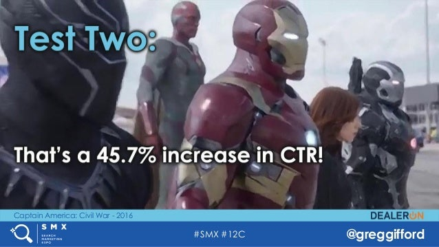 #SMX #12C @greggifford Captain America: Civil War - 2016