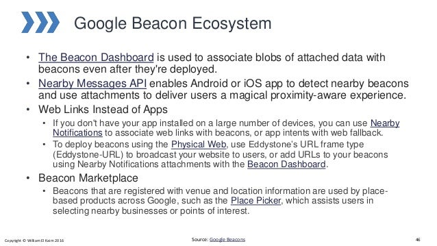 Beacons and the physical web
