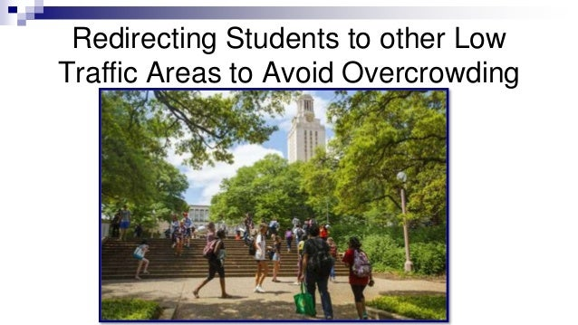 Redirecting Students to other Low Traffic Areas to Avoid Overcrowding