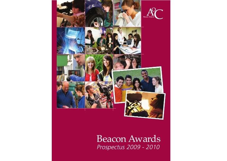 Beacon Awards Prospectus 2009 - 2010
