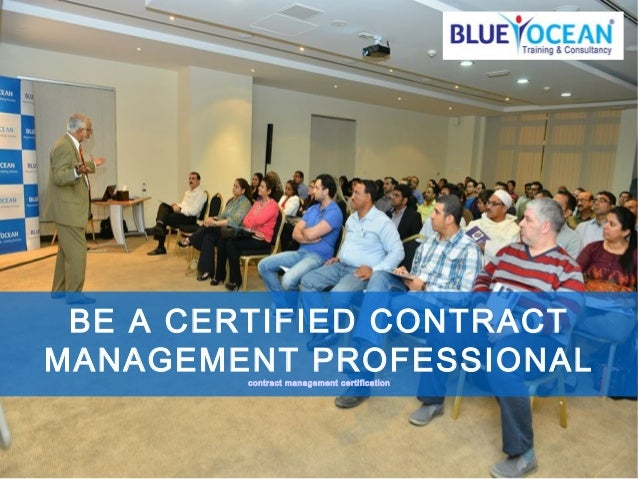 Be a contract management professional