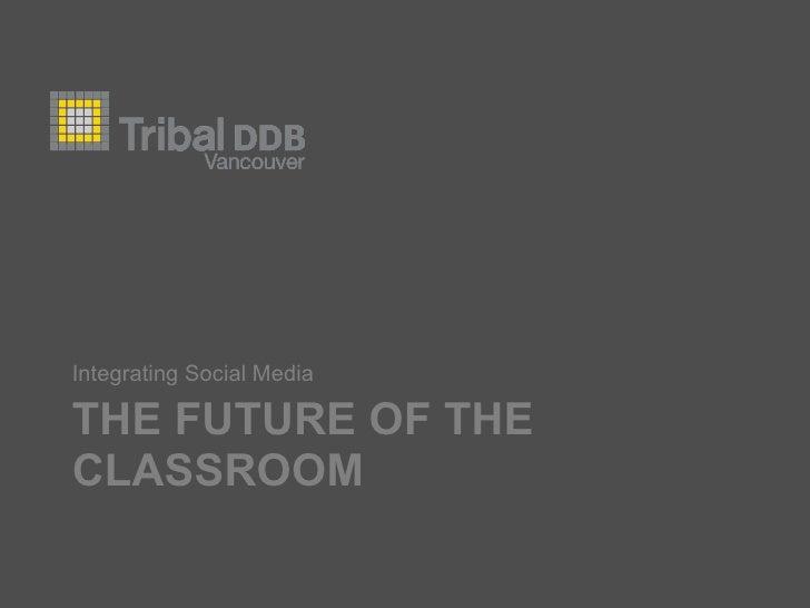 THE FUTURE OF THE CLASSROOM <ul><li>Integrating Social Media </li></ul>