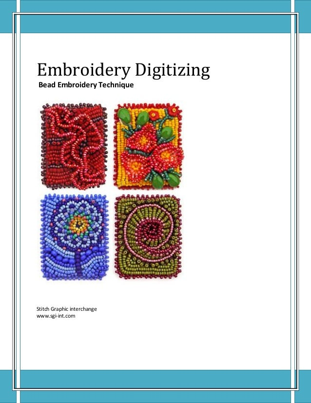 Bead embroidery technique