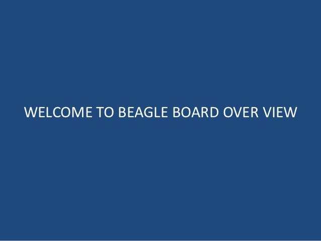 WELCOME TO BEAGLE BOARD OVER VIEW