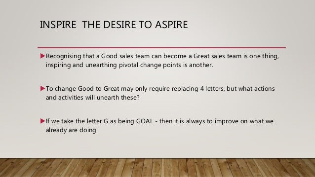 Be A Good Or Great Sales Team