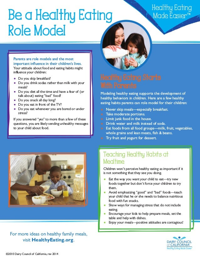 Be a healthy eating role model