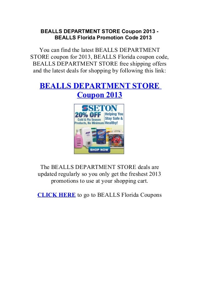 Beallsflorida.com coupon codes