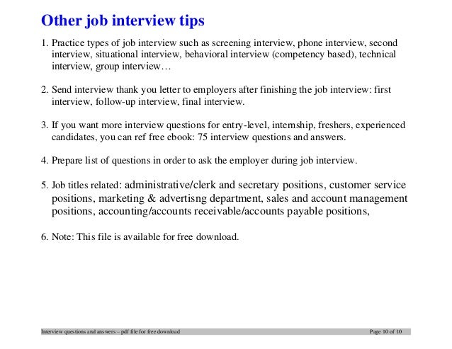 internship interview questions 10 - After Job Offer Questions To Ask