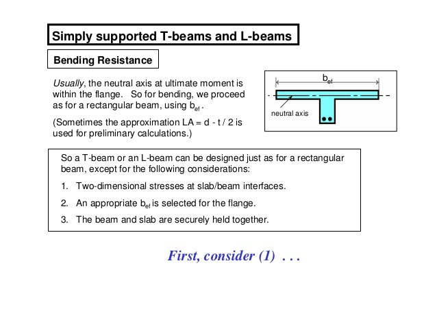 Simply supported T-beams and L-beamsBending Resistance                                                                    ...