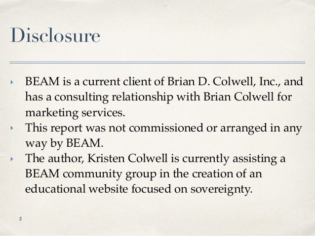 BEAM Marketing Profile Slide 2