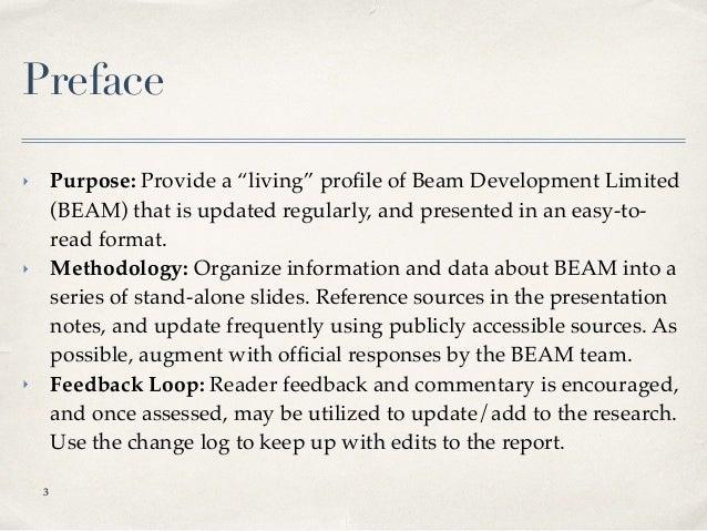 BEAM Marketing Profile Slide 3