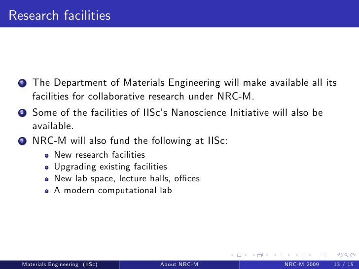 Introducing The Ugc Networking Resource Centre For Materials  Nrc