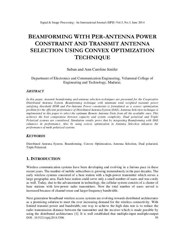 Signal & Image Processing : An International Journal (SIPIJ) Vol.5, No.3, June 2014 DOI : 10.5121/sipij.2014.5306 59 BEAMF...