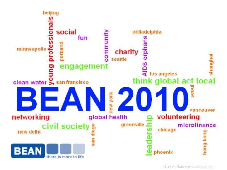 BEAN 2003-2011  http://beanonline.org