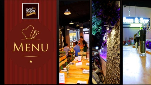 Set Menu 1 220,000 vnd ++ Finger-food menu Bean & Beer Garden - No.112-114, 9A Street, Trung Son Residential, Binh Hung Wa...