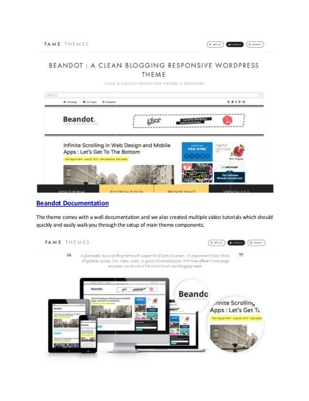 Beandot   clean blogging responsive theme Slide 2