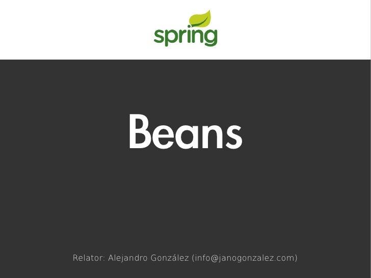 BeansRelator: Alejandro González (info@janogonzalez.com)