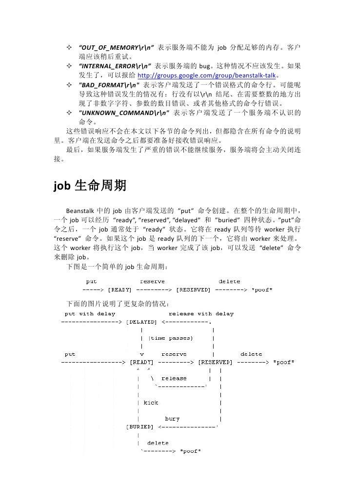 Beanstalk protocol Slide 2