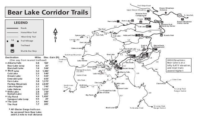 Bear lake trail map