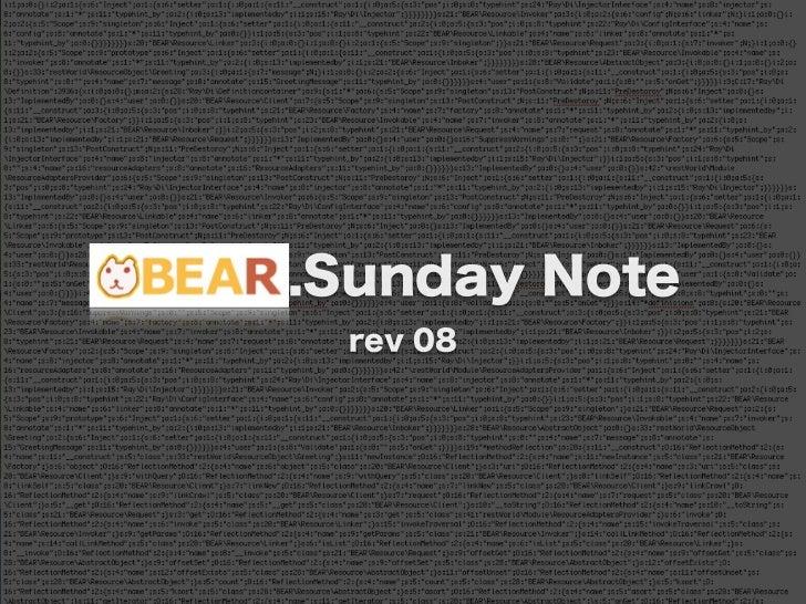 BEAR.Sunday Note      rev 08