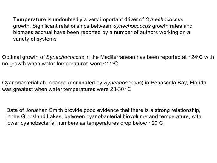 Temperature  is undoubtedly a very important driver of  Synechococcus  growth. Significant relationships between  Synechoc...