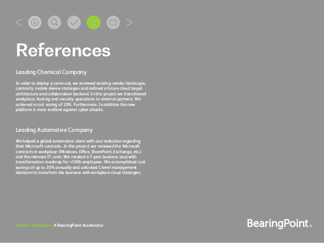 Modern Workplace | A BearingPoint Accelerator Leading Chemical Company In order to deploy a carve out, we reviewed existin...