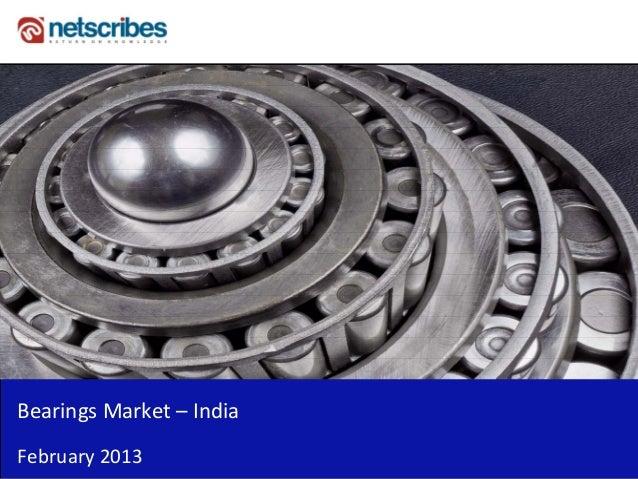 BearingsMarket– IndiaFebruary2013