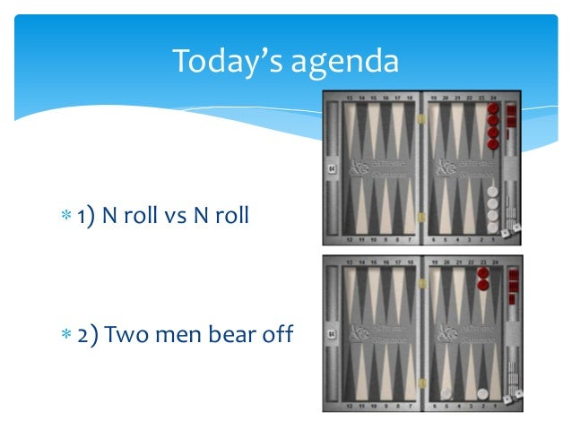 Bear off cube action Slide 2