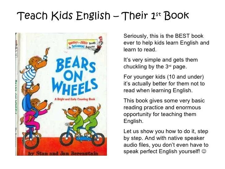 Teach Kids English with Bears on Wheels
