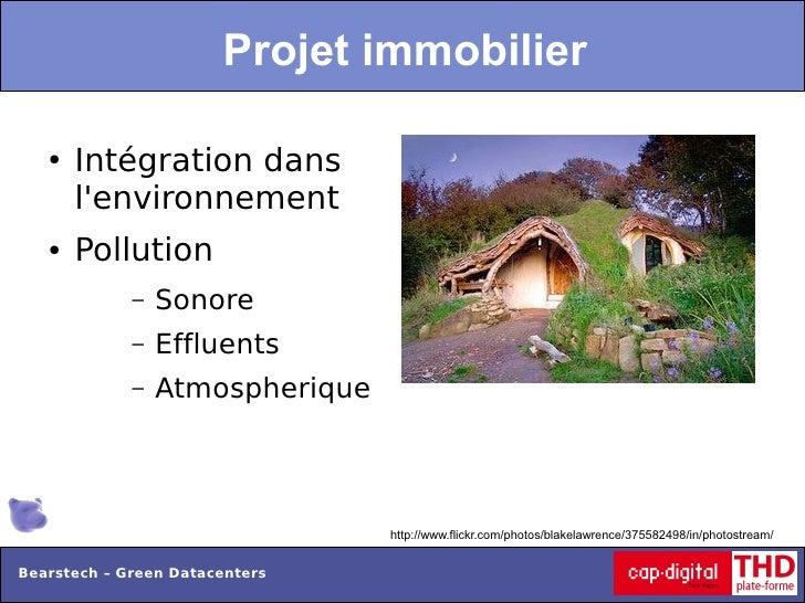 Projet immobilier   ●   Intégration dans       lenvironnement   ●   Pollution             –   Sonore             –   Efflu...