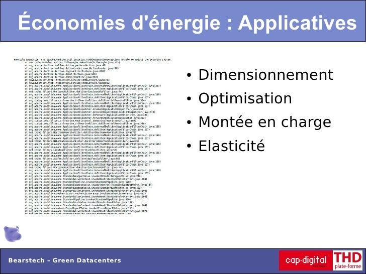 Économies dénergie : Applicatives                                ●   Dimensionnement                                ●   Op...