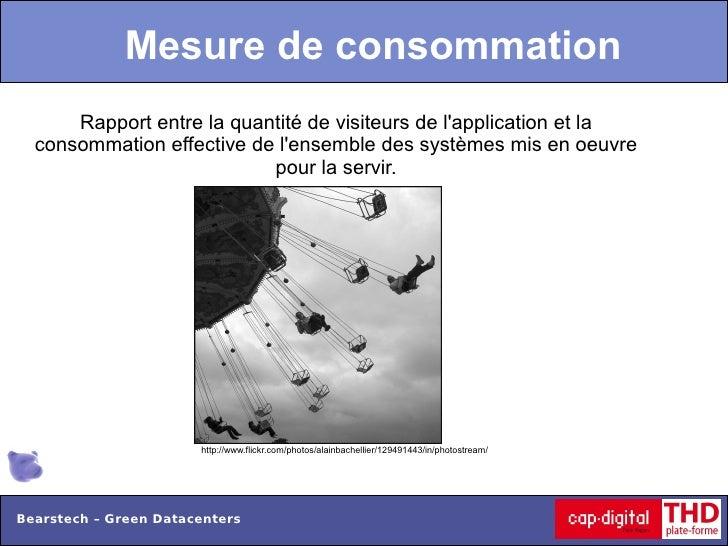 Mesure de consommation      Rapport entre la quantité de visiteurs de lapplication et la  consommation effective de lensem...