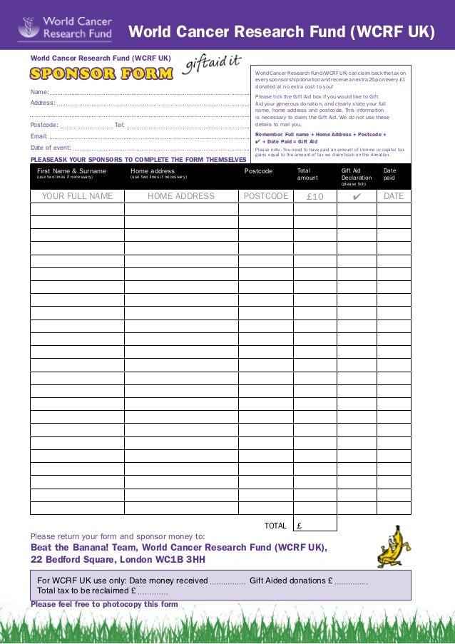 Doc725946 Sponsorship Forms to Print Sponsorship Form – Sponser Sheet
