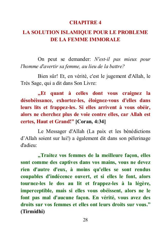Battre les femmes est interdit en islam - Comment faire plaisir a sa femme au lit ...