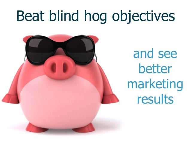 Beat blind hog objectives and see better marketing results