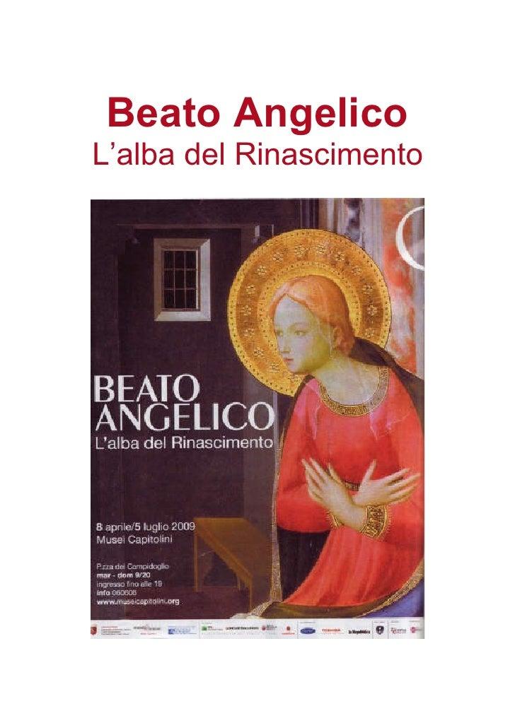 Beato Angelico L'alba del Rinascimento